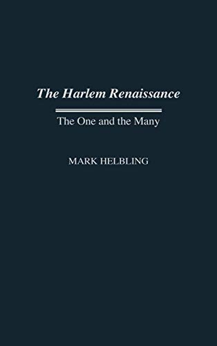Harlem Renaissance: The One and the Many (Contributions in Afro-american & African Studies)