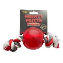 Interpet Puissant Mutts Ball & Rope paquet med de 1