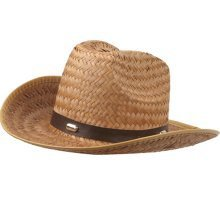 Tan Woven Straw Rolled Cowboy Hat by U.S. Toy