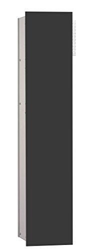 emco asis WC-Modul 2.0,1-türig, rechts UP, 811mm,ohne Einbaurahmen,Alu/Schwarz