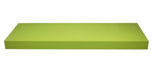 Wandboard / schwebend / 14 Dekore / 5 Größen / Matt / Hochglanz (Grün matt, 80 cm)