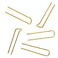 Nadeln für Schmuckpräsentation, Messing, 250Stück