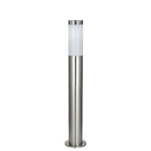 Standleuchte XXL LED Wegeleuchte Edelstahl 80 cm Außenleuchte mit Schutzklasse IP44 - Ideale Gartenlampe, Außenlampe + Terassenleuchte -