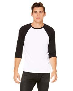 Delifhted Adult 3/4 Sleeve Blended Baseball Tee -