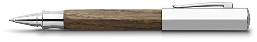 Faber-Castell 147518 - Tintenroller Ondoro Räuchereiche, Mine: 0,5 mm, Schaftfarbe: braun