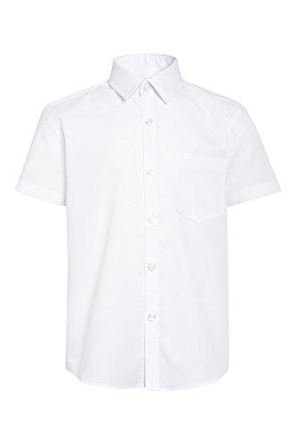 Next bambini e ragazzi confezione da due camicie a maniche corte (3-16 anni) vestibilità standard bianco 12 anni