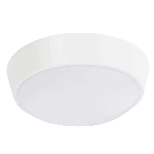 Chestele lampada da parete led plafoniera soffitto moderna impermeabile rotonda 10w 4000k ip54 illuminazione per esterni e interni - bianco