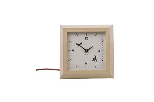 eliga Sauna-Uhr elektrisch, eckig
