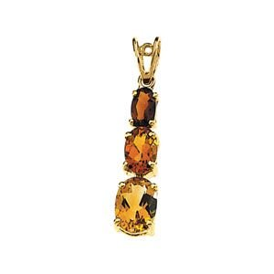 14ct Yellow Gold Citrine And Madeira Citrine