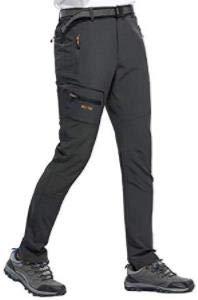 DENGBOSN Pantalones de Senderismo Hombres Ropa Deportiva Trekking Escalada Montaña Verano Resistente al Viento Secado Rápido Transpirables y Ligeros (S, Gris)