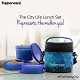 Tupperware City Life Plastic Lunch Set w...