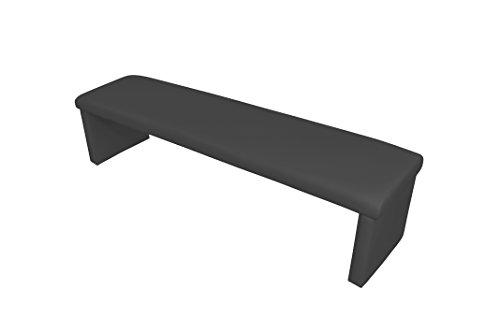 Homexperts Vorbank CHARISSE / Küchenbank 180 cm breit in schwarz / Moderne, gepolsterte Sitzbank / Kunstleder-Bank schwarz / Bank ohne Lehne: 180 x 45 x 48 cm (B x T x H) -
