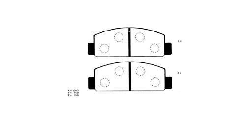 Preisvergleich Produktbild Ashuki 1080-8203 Bremsbeläge
