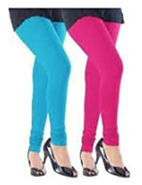 Gtb Creations Ruby Style Legging Combo Pack Of 2 Sky Blue And Dark Pink