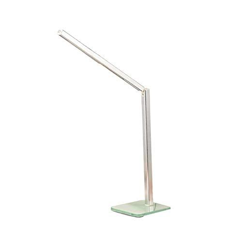 Oevina Modern Led USB Ladeanschluss Schreibtischlampe Studie Kid, 3 Beleuchtung Modus zusammenklappbare Aluminium Schreibtisch Beleuchtung für Büro Schlafsaal Raum lesen 6w-golden (Color : Silvery) -