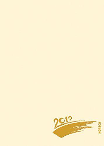 Foto-Malen-Basteln A5 chamois mit Folienprägung 2019: Kalender zum Selbstgestalten