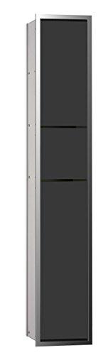 emco asis Gäste-WC-Modul (150) UP, 964mm, ohne Einbaurahmen, Chrom/Schwarz