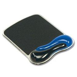 Kensington 62401 - Alfombrilla para ratón con apoyo de gel para la muñeca, color azul y negro