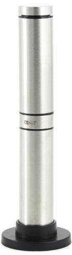 Ad Hoc MS10 Batteriebetriebener Milch-Schäumer Rapido, Edelstahl/Kunststoff  schwarz, inkl. 3 Batterien, mit Ständer: H: 21 cm D: 3 cm