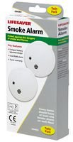 Smoke Alarm (twin Pack) from LIFESAVER