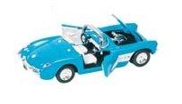 Chevrolet Corvette 1957 bleu Cabriolet 1:34