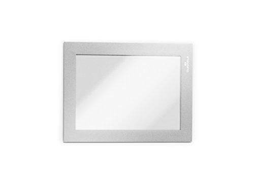 Durable 487023 Info-Rahmen Duraframe (A6, selbstklebend mit Magnetverschluss) 2 Stück silber