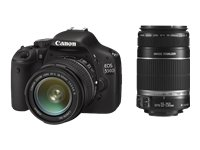 Canon EOS 550D SLR-Digitalkamera (18 Megapixel, LiveView) Double-Zoom Kit inkl. EF-S 18-55mm IS und EF-S 55-250mm IS Objektiv Zoom Canon Eos Digital Slr