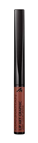 Manhattan Lip Art Graphic 2-in-1 Lip Liner und Liquid Lipstick, für samtig-weiche Lippen, Fb. 110...