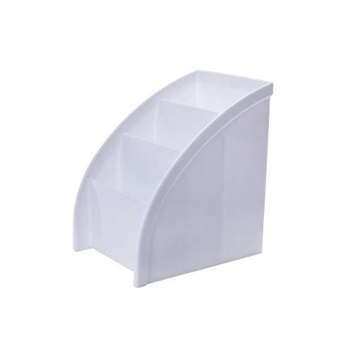 GLJSN Desktop Fernbedienung Finishing Box Kosmetische Aufbewahrungsbox Kunststoff Schmuck Finishing Frame Wohnzimmer Couchtisch Kleinigkeiten Box (Color : White) - Frame-couchtisch