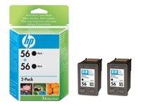 HP 56Twin Pack-Druckerpatrone-2x Schwarz-Blister mit RF-Alarm -