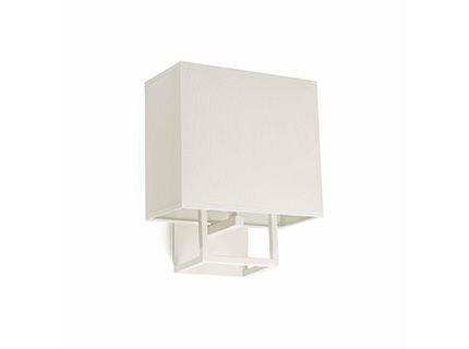 Faro Barcelona Vesper 29980Wandleuchte, 20W, Metall und Lampenschirm aus Stoff, Weiß -