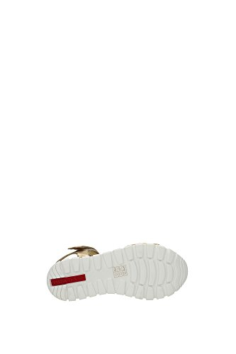 3X6019PLATINO Prada Sandale Femme Cuir Or Or