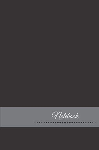 Notebook: Dot Grid Notebook (Journal) - Size 6 x 9 inches - 110 Pages - Black Cover