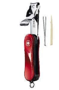 WENGER Nagelclipser, Pinzette, Zahnstocher- Swiss Made - mit Schlüsselring