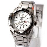 Seiko 5 Men's Sports Automatic Watch With Day Date - SNZJ03J1