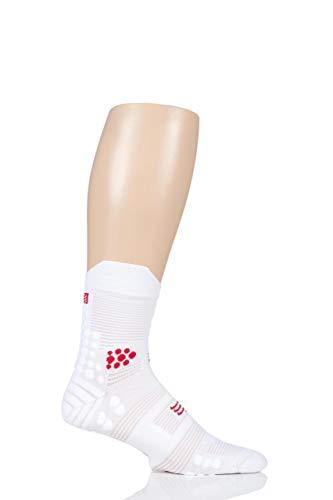 COMPRESSPORT-Racing Socks V30Trail-T3, Rot und Weiß -