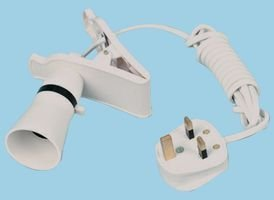Klemmleuchte/-Sockel mit 1,8m Kabel und GB-Stecker