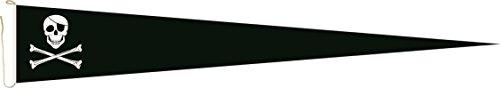 U24 Langwimpel Pirat Fahne Flagge Wimpel 200 x 40 cm ()