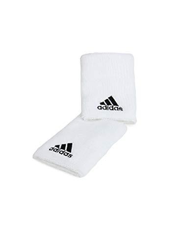Adidas z43429 - polsini da tennis per uomo, colore bianco/nero, taglia large