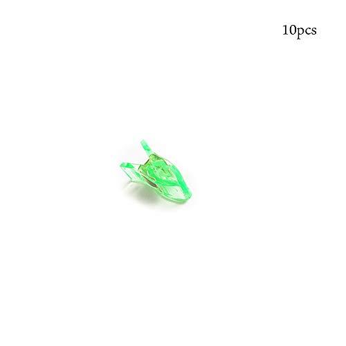 Clip Blind (CTGVH Nähen Clips, 10Stk, gehäkelte und Stricken Clips für Quilten Binding Clips Büroklammern Blinder Clips (grün))