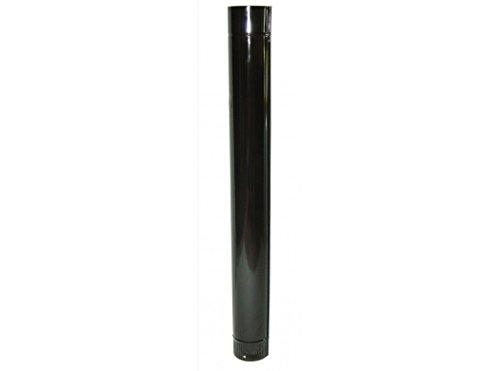 Wolfpack 22011000 Tubo Estufa Color Negro Vitrificado de 100mm, Multicolor