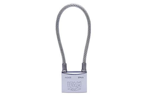 Candado Ifam con cable de acero inoxidable 50 con asa flexible