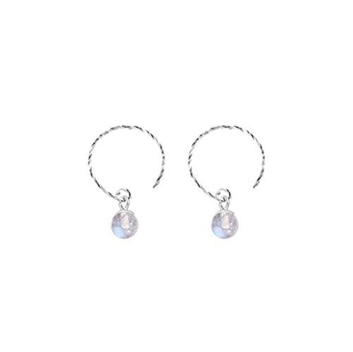 au Mondlicht Perle Kristall Stein Fantasie Glühwürmchen S925 Ohrringe Ohr Hängen Weiblich ()