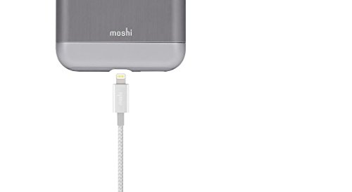 Moshi 99MO023104 Integra USB-A Lade/Sync Kabel Lightning Jet Silber