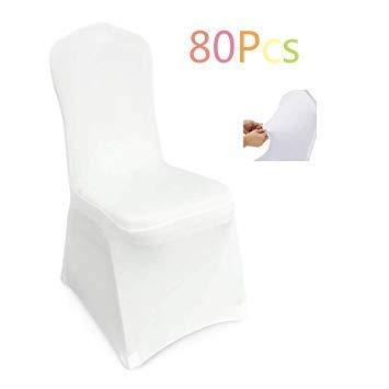 femor Stuhlhussen Weiß 100 Stück Stuhlhussen 40X20X25 cm Acelectronic Stuhlüberzug Moderne Stuhl Abdeckung für Hochzeiten und Feiern -