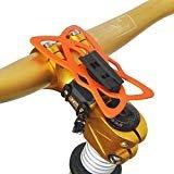 upanbike Bike Motorrad Lenkervorbau Halterung Bike Mount Double Seil Strap Lock kompatibel mit Universal Telefon und GPS, Orange