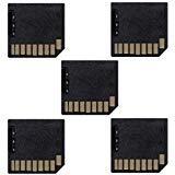 Preisvergleich Produktbild Cablecc Mini Adapter Micro SD TF auf SD Card Kit Mini Adapter Low Profile für zusätzlichen Speicher MacBook Air / Pro / Retina,  Schwarz,  5 Stück