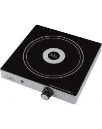 Jata V139 Cocina eléctrica vitrocerámica 1 fuego, Una placa de 18 cm, Cuerpo metálico, 2,000...