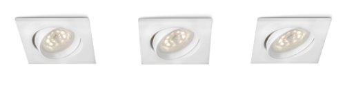 Philips myLiving Galileo - Pack de 3 focos empotrables, LED, iluminación interior,...