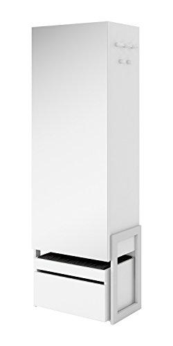 Schrank Kleiderschrank Dielenschrank CLARO (Nußbaum Barcelona / Weiß matt) (Nussbaum-schrank Moderne)